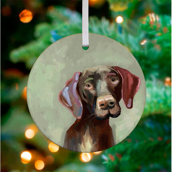 Personalized Best Friend German Short Hai Pointer Hanging Ornament by GreenBox Art