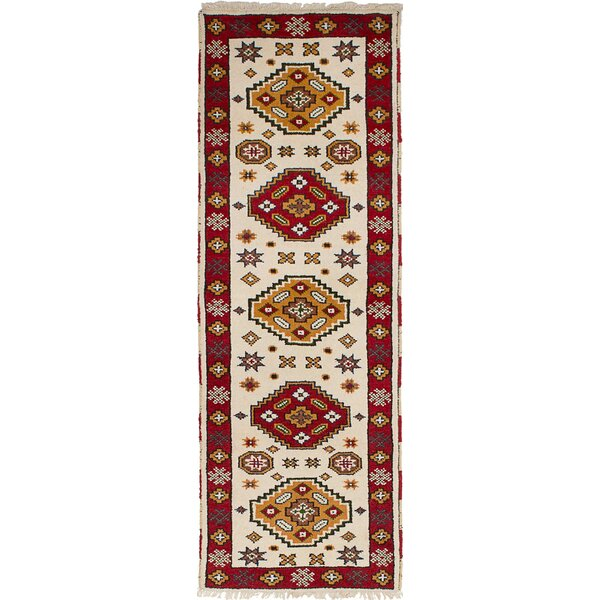 One-of-a-Kind Jesusa Hand-Woven Wool Cream Area Rug by Isabelline