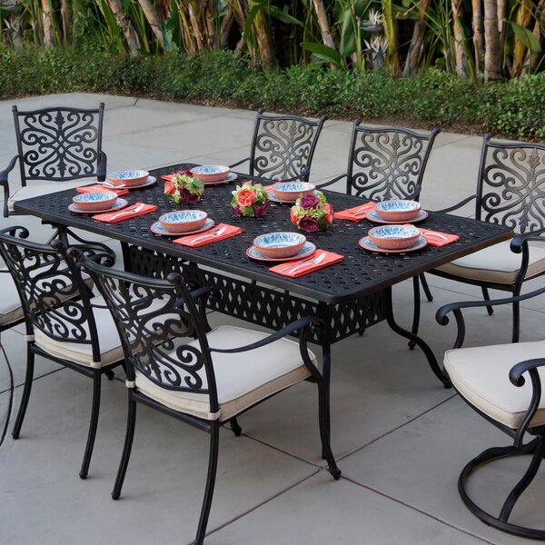 Archway 9 Piece Dining Set with Cushions by Astoria Grand
