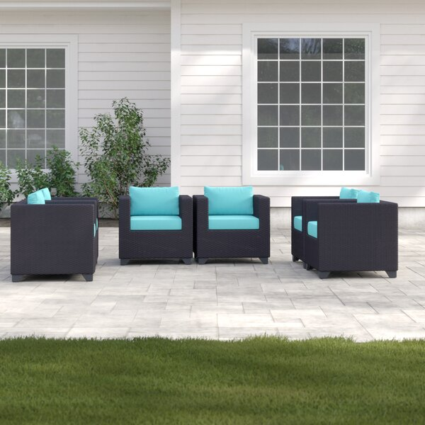 Fernando Patio Chair with Cushions (Set of 6) by Sol 72 Outdoor