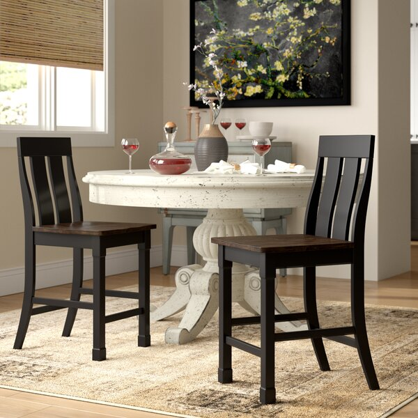 Landrum Solid Wood Dining Chair (Set of 2) by World Menagerie