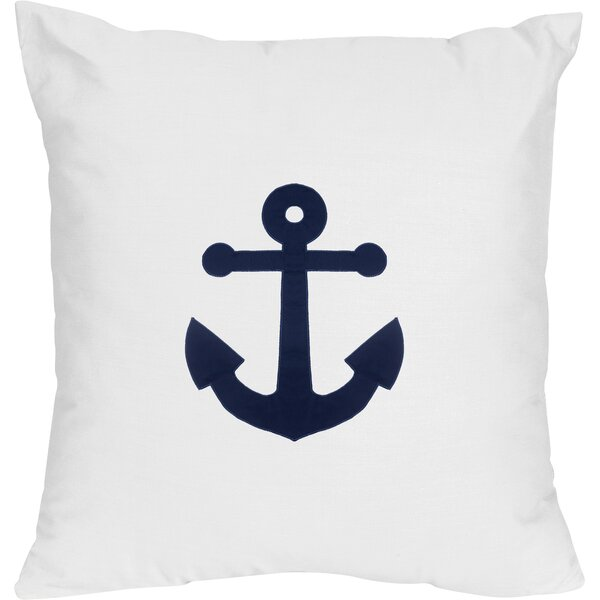 Anchors Away Decorative Accent Cotton Throw Pillow By Sweet Jojo Designs.