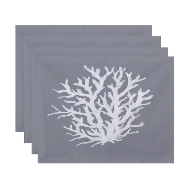 Coral Corral Reef Geometric Placemat (Set of 4) by e by design