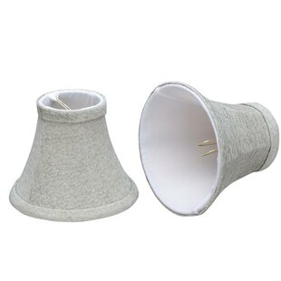 Compare & Buy 6 Fabric Bell Candelabra Shade (Set of 2) By Aspen Creative Corporation