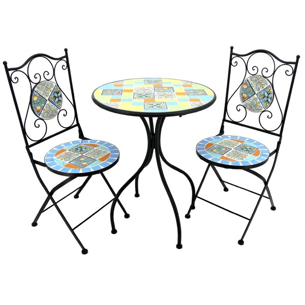 Glassman 3 Piece Bistro Set by Fleur De Lis Living