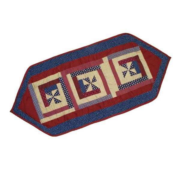 Midnight Log Cabin Table Runner by Patch Magic
