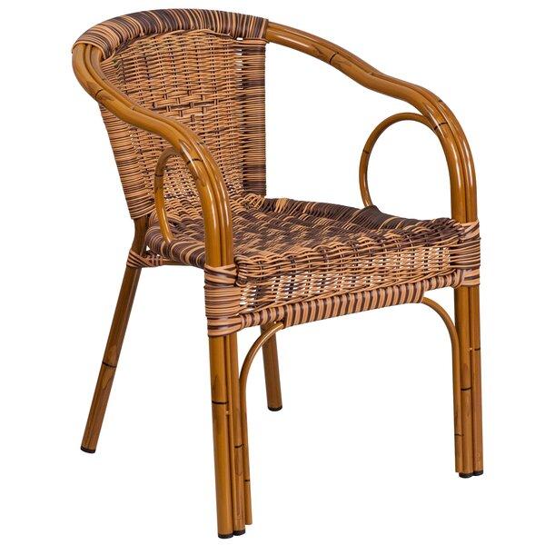 Keyla Rattan Restaurant Patio Chair by Mistana