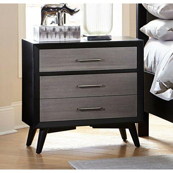 Ebeling Wooden 3 Drawer Nightstand by Corrigan Studio