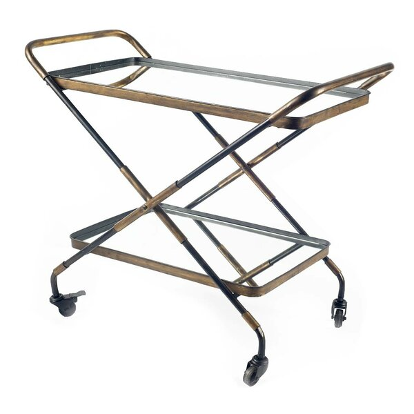 Creissant Bar Cart by 17 Stories