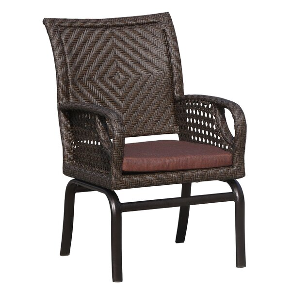 Largo Patio Dining Chair with Cushion by World Wide Wicker