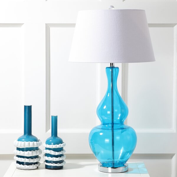 Chenoweth Glass 33.5 Table Lamp by Rosecliff Heights