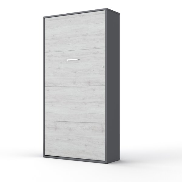 Lucan Vertical Wall Murphy Bed with Mattress by Orren Ellis