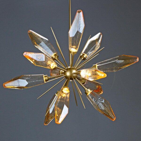 Rock Crystal 12 - Light Sputnik Sphere LED Chandelier By Hammerton Studio