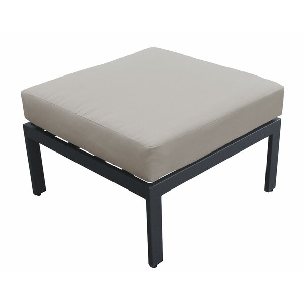 Kalson Outdoor Ottoman with Cushion by Wrought Studio