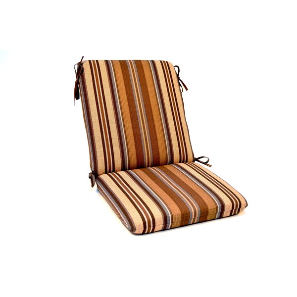 Stripe Iron High Back Indoor/Outdoor Lounge Chair Cushion by Wildon Home ®