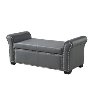 Grogg Faux Leather Storage Bench
