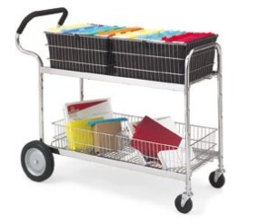 Long Wire File Cart with Cushioned Ergo Handle by Charnstrom