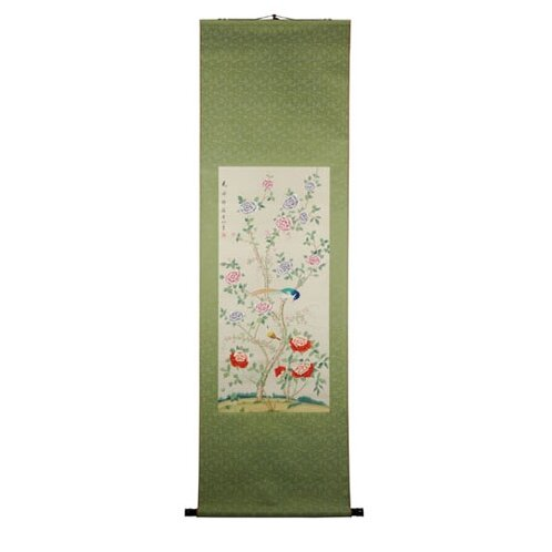 Youthful Blossoms Watercolor Painting Wall Hanging by World Menagerie