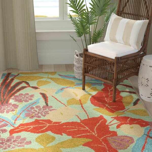 Dixie Floral Contemporary Rug by Bay Isle Home
