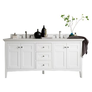 Reviews Palisades 71 Double Bathroom Vanity Base Only ByJames Martin Furniture