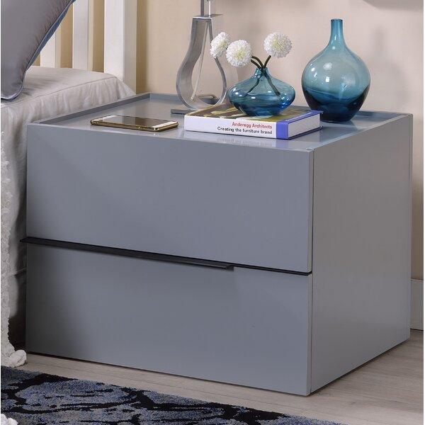 Havisham 2 Drawer Nightstand by Latitude Run
