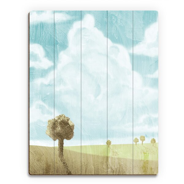 Spring Sky Painting Print on Plaque by Click Wall Art