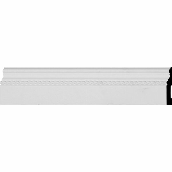 Oslo Rope 4 7/8 H x 94 1/2 W x 5/8 D Baseboard Molding by Ekena Millwork