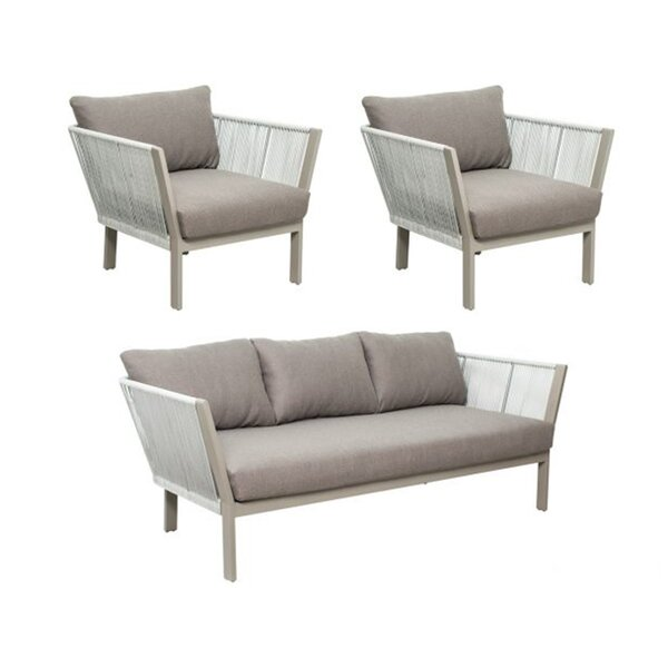 Archipelago St. Helena 3 Piece Sofa Seating Group with Cushions by Seasonal Living Seasonal Living