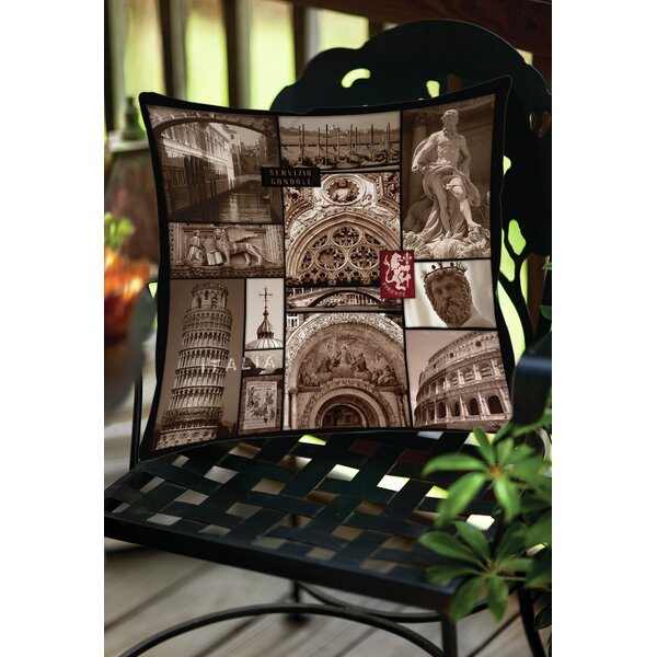 Italy Indoor/Outdoor Throw Pillow by Manual Woodworkers & Weavers