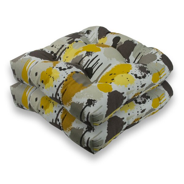 Paintdrip Indoor/Outdoor Dining Chair Cushion (Set of 2) by Sherry Kline