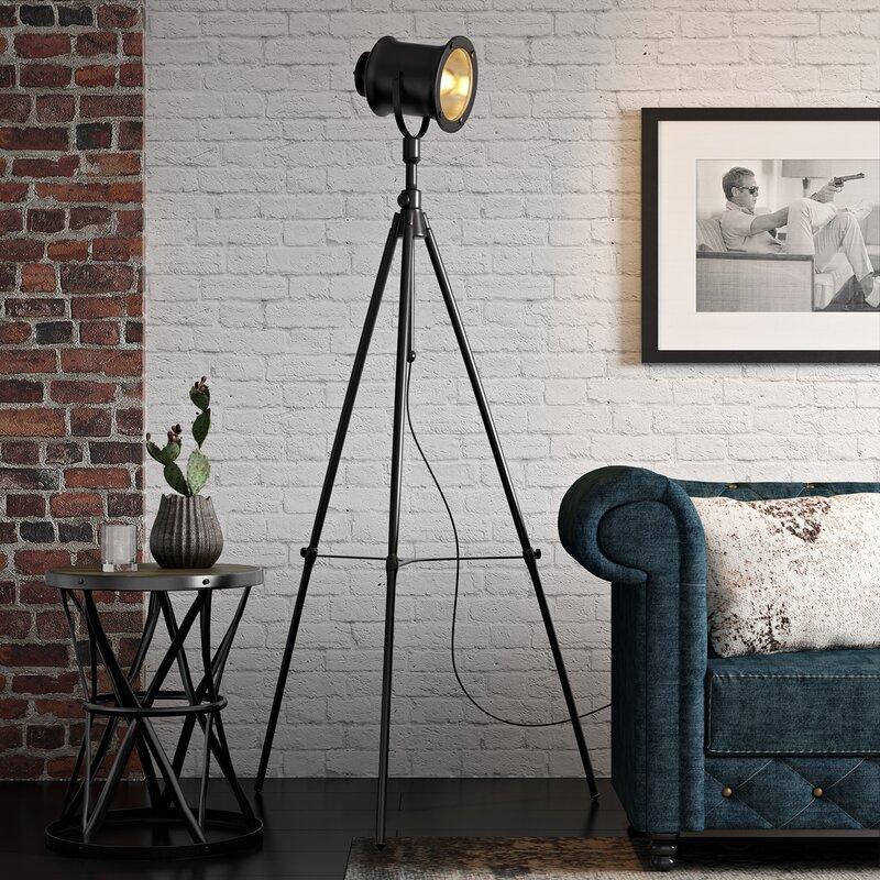 "17 Stories Clementina 74"" Tripod Floor Lamp"