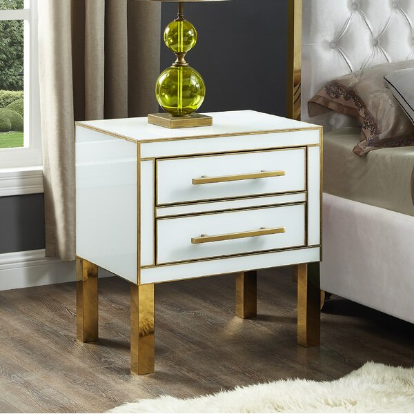 Kenilworth 2 Drawer Nightstand By Everly Quinn by Everly Quinn 2020 Sale