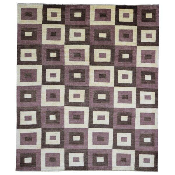 One-of-a-Kind Kanter Pakistan Gabbeh Hand-Woven Wool Beige/Dark Brown Area Rug by Latitude Run