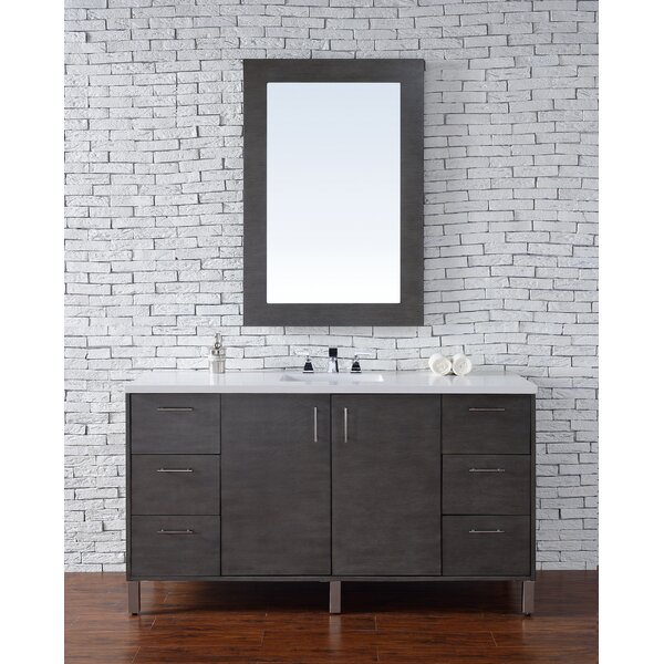 Cordie 60 Single American Walnut Bathroom Vanity Set by Orren Ellis