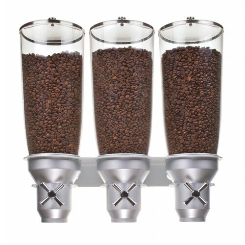 507.21 Oz. Triple Canister Cylinder Cereal Dispenser by Cal-Mil