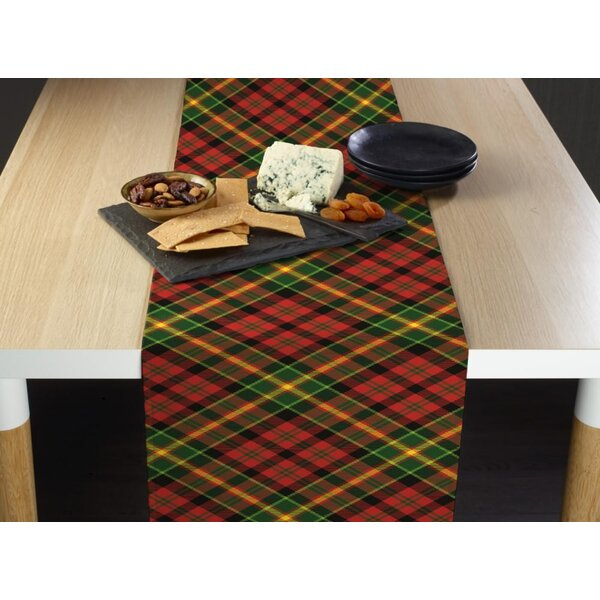Humphery Christmas Plaid Table Runner by Charlton Home