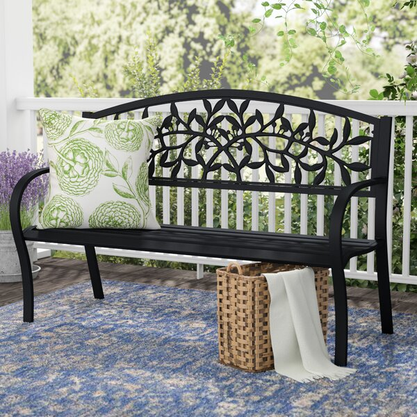 Georgiana Metal Garden Bench by One Allium Way