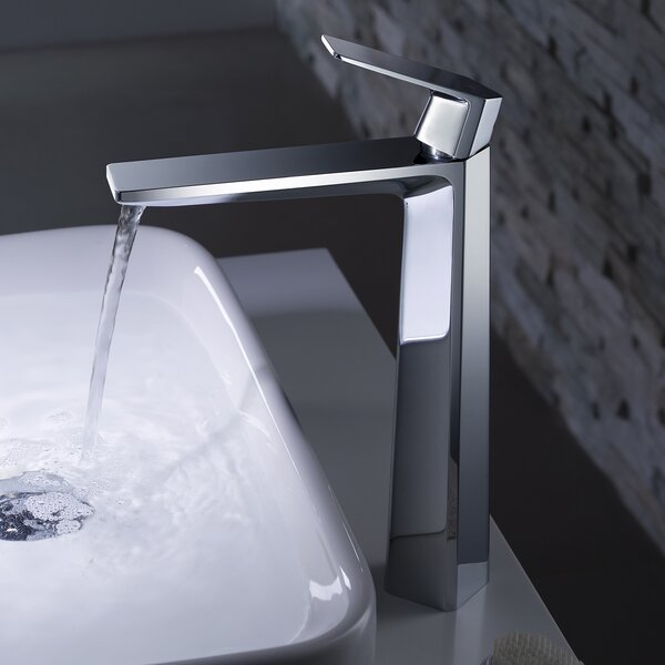Exquisite Vessel Single Hole Bathroom Faucet by Kraus