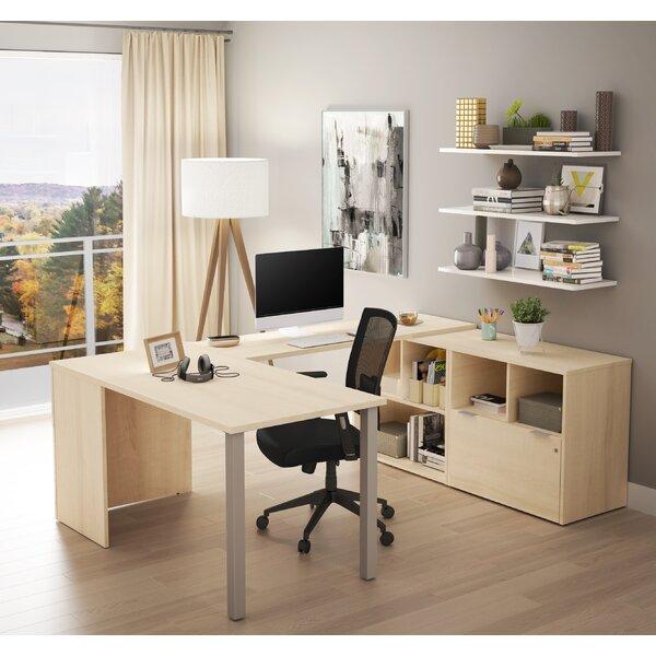 Prattsburgh U-Shape Executive Desk by Brayden Studio