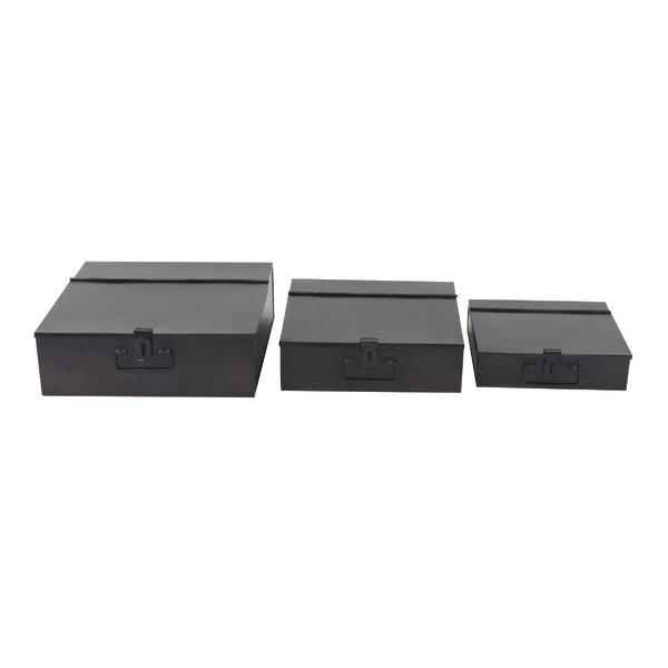 Kulas Half-fold Metal 3 Piece Decorative Box Set by Williston Forge