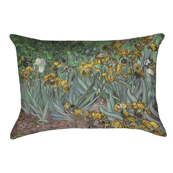 Bristol Woods Irises Outdoor Lumbar Pillow by Red Barrel Studio