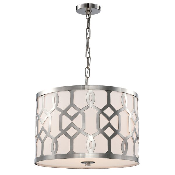 Jennings 3-Light Drum Pendant by Libby Langdon for Crystorama Libby Langdon for Crystorama