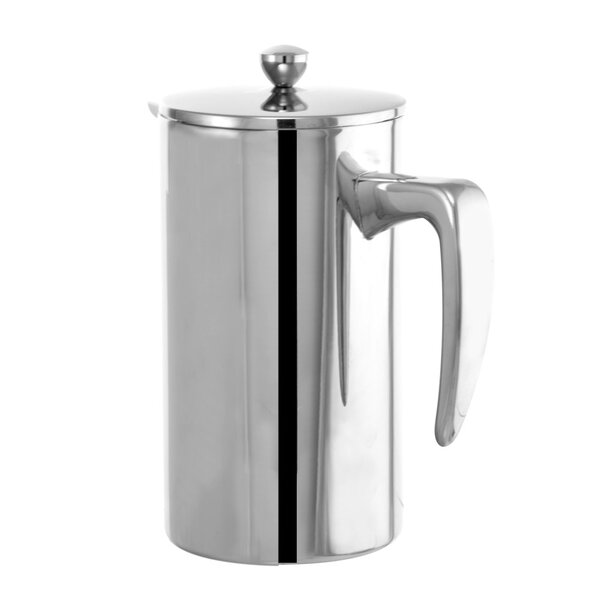 8-Cup Dublin Stainless Steel French Press Coffee Maker by Grosche