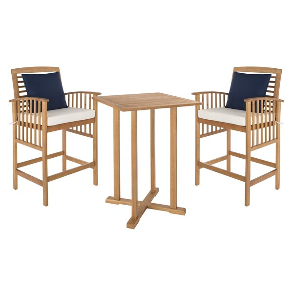 Kirsta 3 Piece Dining Set by World Menagerie World Menagerie
