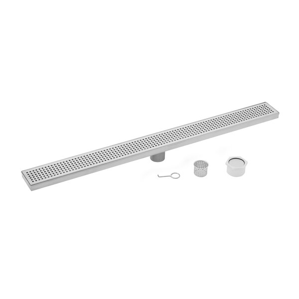 Stainless Steel Square Grate Linear 2 Linear Shower Drain by Soleil