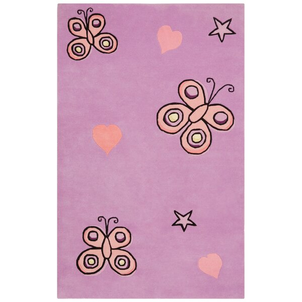 Playful Purple Butterfly Kisses Rug by St. Croix