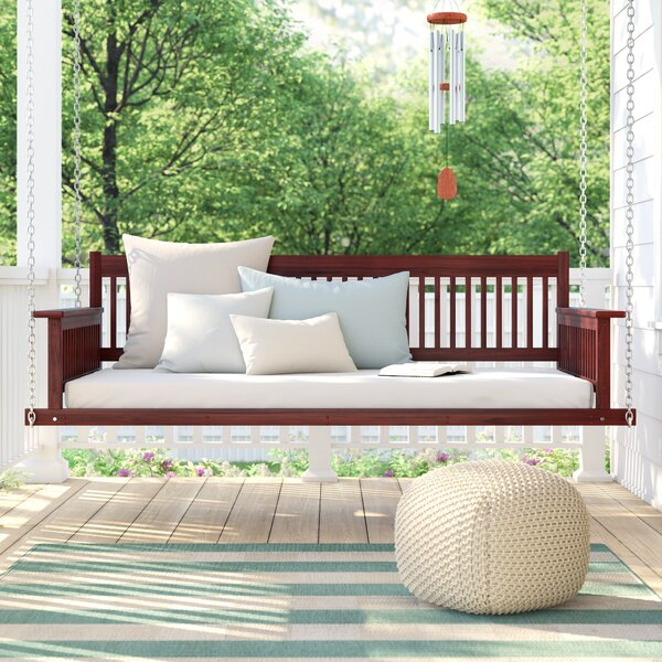 Marisela Day Bed Porch Swing by Rosecliff Heights Rosecliff Heights