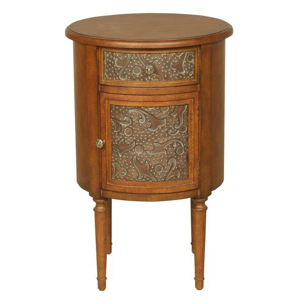 Neston End Table With Storage By Ophelia & Co.