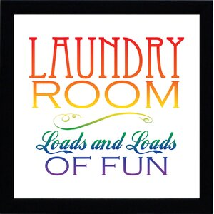 'Laundry Room' Framed Textual Art by Ebern Designs