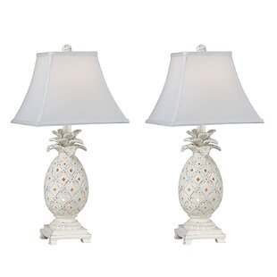 Best Nate Pineapple 23 Table Lamp (Set of 2) By Highland Dunes